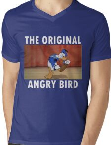 The Original Angry Bird (Donald Duck) Mens V-Neck T-Shirt
