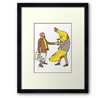 Will Work for Food Framed Print