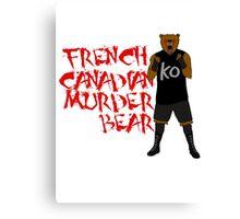 the canadian murder bear Canvas Print