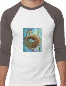 BIRD NEST Men's Baseball ¾ T-Shirt
