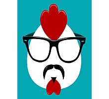 Hipster Chicken Photographic Print
