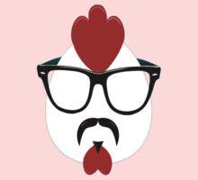 Hipster Chicken Kids Tee