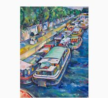 Houseboats on the Seine Unisex T-Shirt