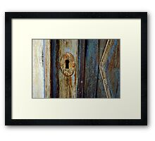 history in the key hole Framed Print