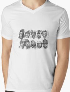 SHAOLIN JAZZ - Faces Mens V-Neck T-Shirt