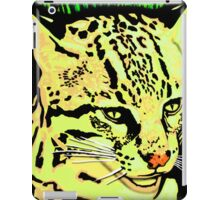 Lemon Yellows, painted Ocelot Cat art iPad Case/Skin