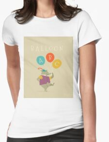 Balloon ABC Womens Fitted T-Shirt
