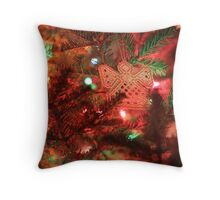 Angel on the tree Throw Pillow
