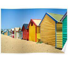 Brighton bathing boxes - Victoria - Australia Poster