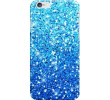 Blue Glitters Sparkles Texture iPhone Case/Skin