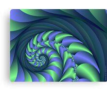 Leafy Spiral Canvas Print