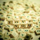 I Love You Scrabble Jumble. by eyeshoot