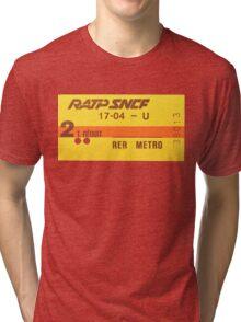FRENCH Ticket RER-RATP  Tri-blend T-Shirt