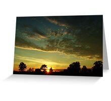 Sunrise scenery Greeting Card