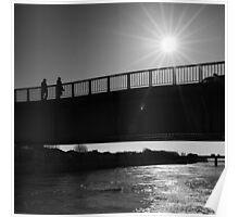 Dark Sunlight over the Bridge - Arles, France - 2010 Poster