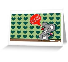 darling - mouse - funny Greeting Card