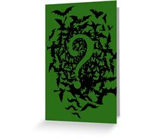 The Riddler tee Greeting Card
