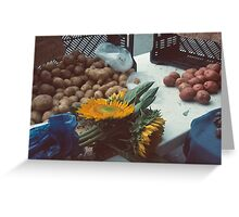 Potatoes and Point-Union Square, NYC Greeting Card