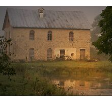 Golden Mill Pond Photographic Print