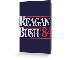 Vintage Reagan Bush 1984 T-Shirt Greeting Card