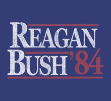 Vintage Reagan Bush 1984 T-Shirt by flippinsg