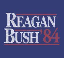 Vintage Reagan Bush 1984 T-Shirt by flippinsg
