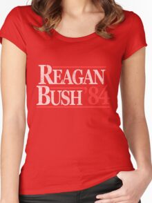 Vintage Reagan Bush 1984 T-Shirt Women's Fitted Scoop T-Shirt