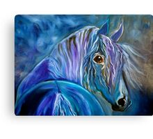 COBALT FURY Canvas Print