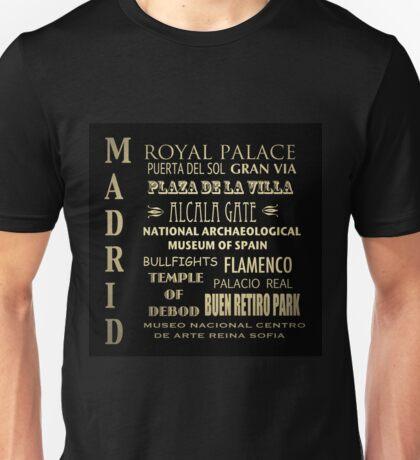 Madrid Famous Landmarks Unisex T-Shirt