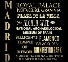 Madrid Famous Landmarks by Patricia Lintner