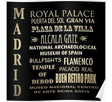 Madrid Famous Landmarks Poster
