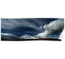 Red Rock Snow, Panoramic No. 5 Poster