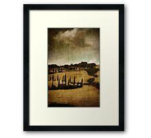 *Val d'orcia* Framed Print