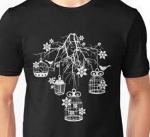 Bird Cage Chandelier (White) Unisex T-Shirt