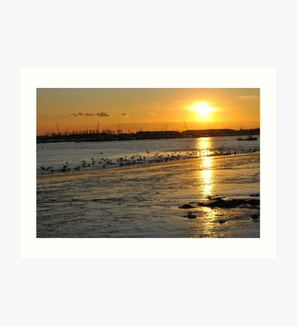 Sunset - River Crouch Art Print