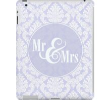 "Lavender Damask ""Mr & Mrs"" iPad Case/Skin"