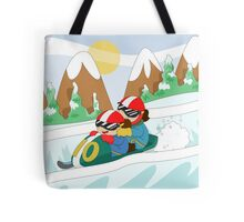 Winter Sports: Bobsleigh Tote Bag