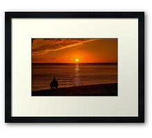 Watching the Sunset 2 Framed Print