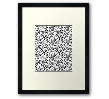 BLACK TWIRLS Framed Print