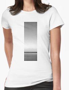 Horizon - Black & White Womens Fitted T-Shirt