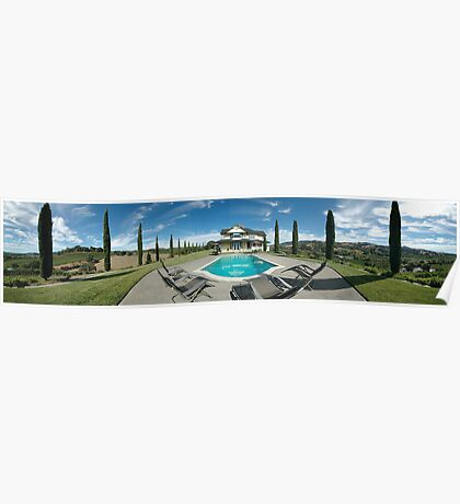 Asti Winery Guest House Pano Poster