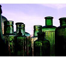 Green Bottles Photographic Print