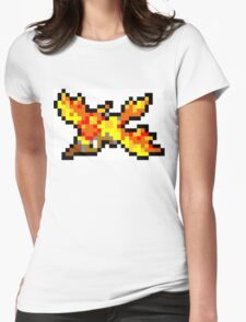 Pokemon 8-Bit Pixel Moltres 146 Womens Fitted T-Shirt