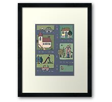 An Even Quieter Afternoon in Town Framed Print