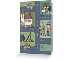 An Even Quieter Afternoon in Town Greeting Card