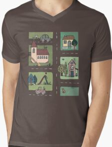 An Even Quieter Afternoon in Town Mens V-Neck T-Shirt