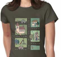 An Even Quieter Afternoon in Town Womens Fitted T-Shirt