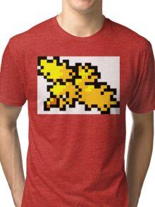 Pokemon 8-Bit Pixel Zapdos 145 Tri-blend T-Shirt
