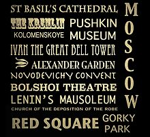 Moscow Famous Landmarks by Patricia Lintner