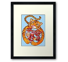 The Tiger Who Came To Tee Framed Print